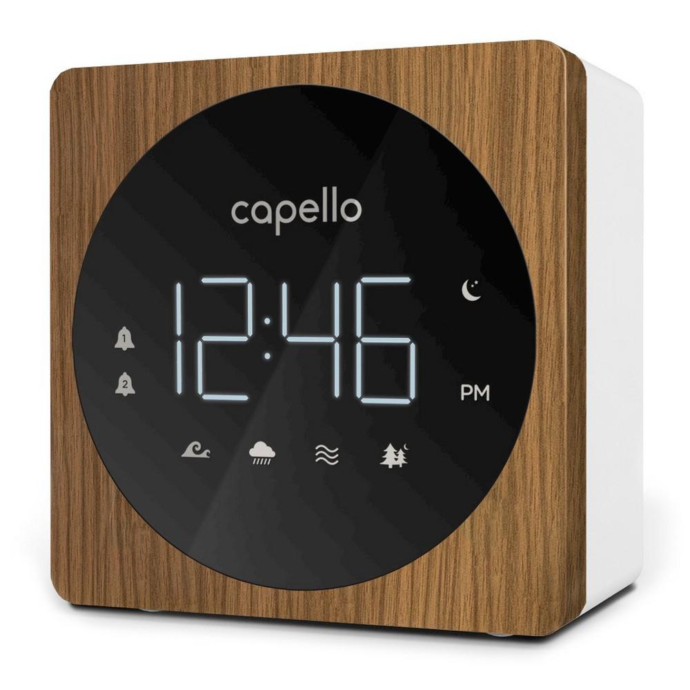 Image of Digital Alarm Clock with Sound Machine Black/Larch - Capello