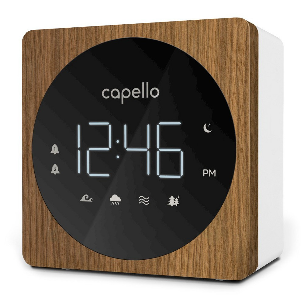 Image of Digital Alarm Clock with Sound Machine Black/Larch - Capello