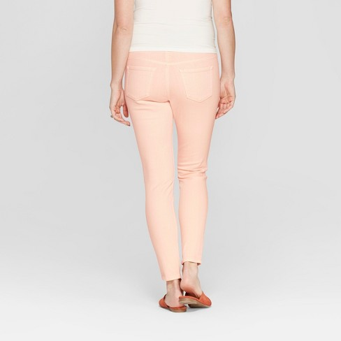 24c5f0c9543d4 Maternity Crossover Panel Peach Skinny Jeans - Isabel Maternity By Ingrid &  Isabel™ Peach : Target