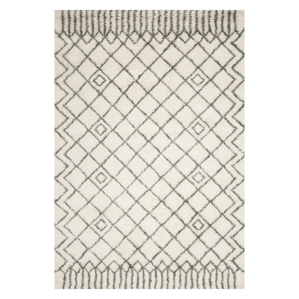 5'X8' Geometric Area Rug Ivory/Gray - Safavieh