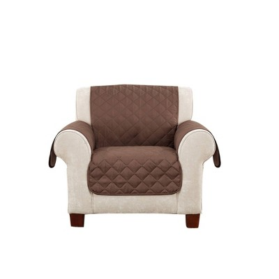 Reversible Chair Furniture Protector Light Brown/Chocolate - Sure Fit