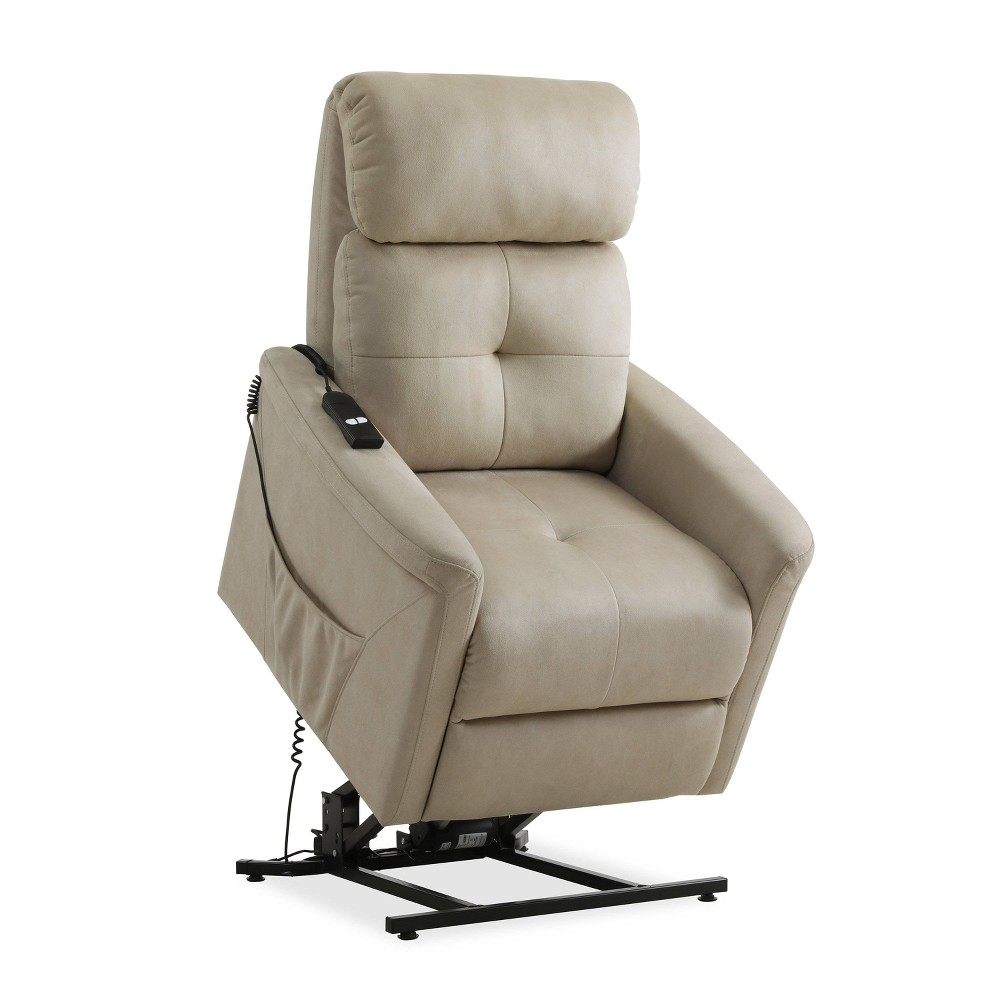 Prolounger Power Recline and Lift Chair Stone (Grey) - Handy Living