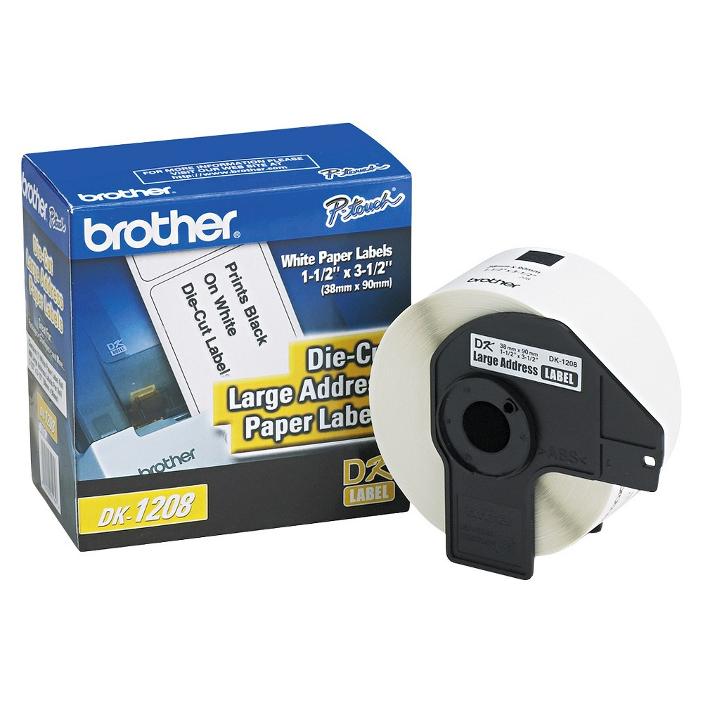 Brother Die - Cut Address Labels - 1.4 x 3.5 - White (400/Roll)