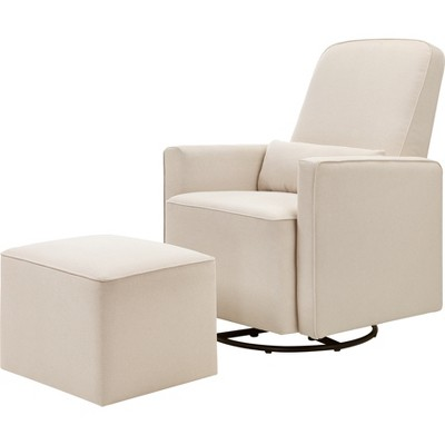 DaVinci Olive Glider and Ottoman - Cream