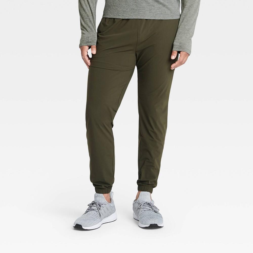 Men 39 S Lightweight Run Pants All In Motion 8482 Olive Green Xl