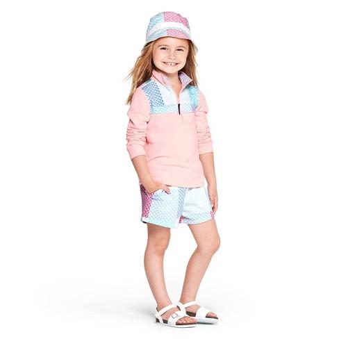 c0d9b5a04 Toddler Girls' 1/4 Zip Pullover Patchwork Whale Sweatshirt - Pink - vineyard  vines® for Target