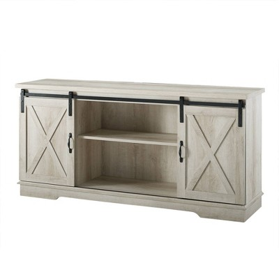 """Modern Farmhouse Wood TV Stand for TVs up to 65"""" - Saracina Home"""
