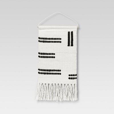 "12"" x 18"" White Woven Wall Hanging - Opalhouse™"
