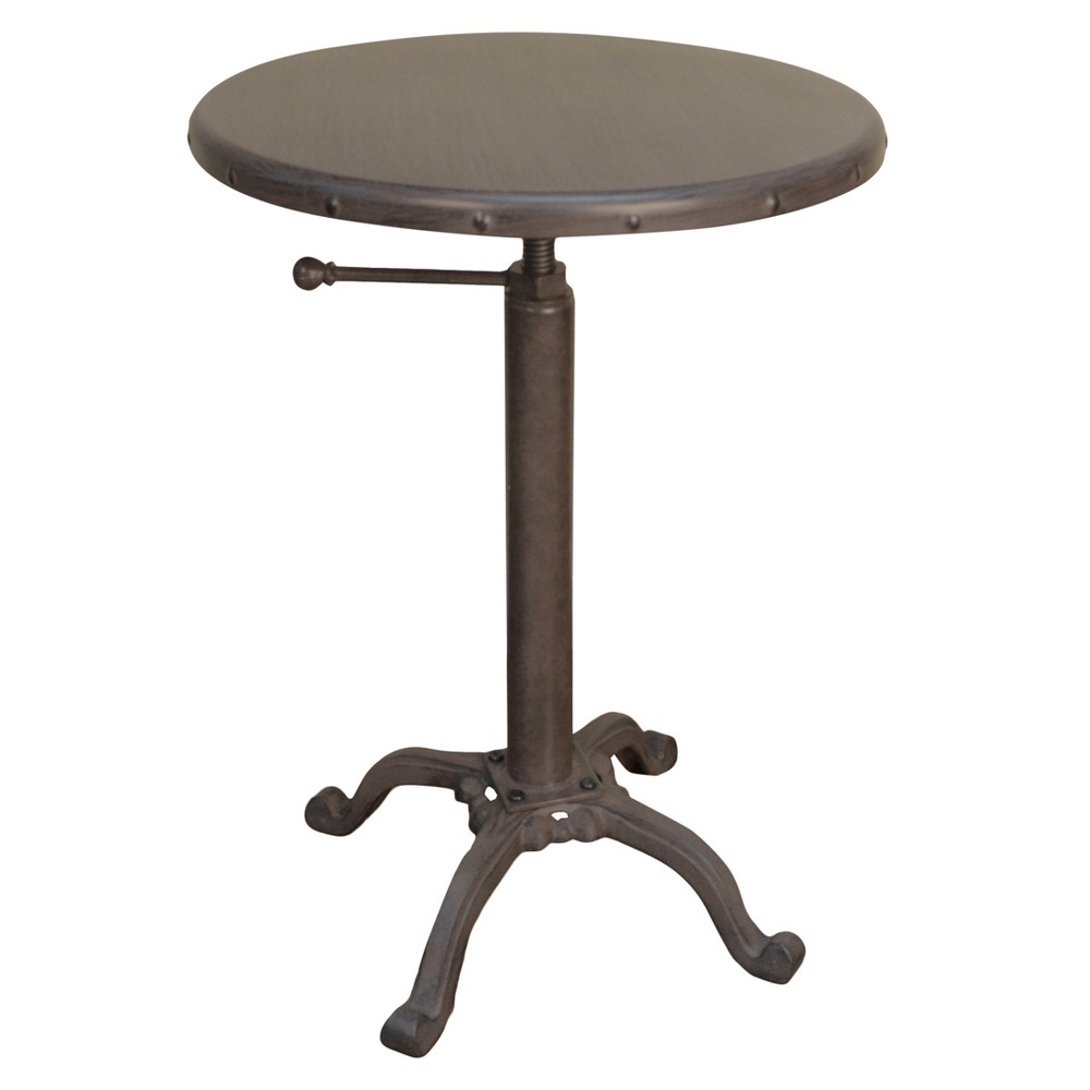 Image of Oslin Restoration Adjustable Accent Table - Industrial - Carolina Chair and Table