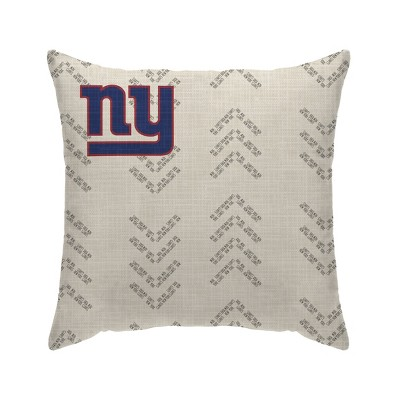 NFL New York Giants Wordmark Decorative Throw Pillow