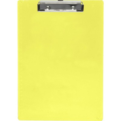 """Saunders Plastic Clipboard Letter Holds 1/2"""" of Paper Neon Yellow 21595"""