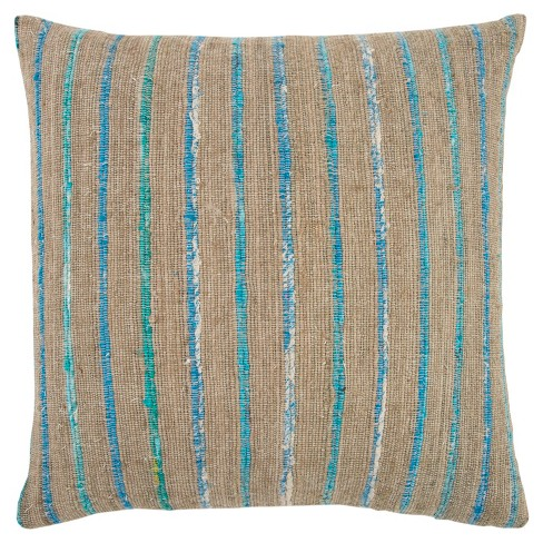 Rizzy Home Geometric Throw Pillow Teal - image 1 of 3