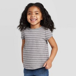 Toddler Girls' Short Sleeve Striped T-Shirt - Cat & Jack™