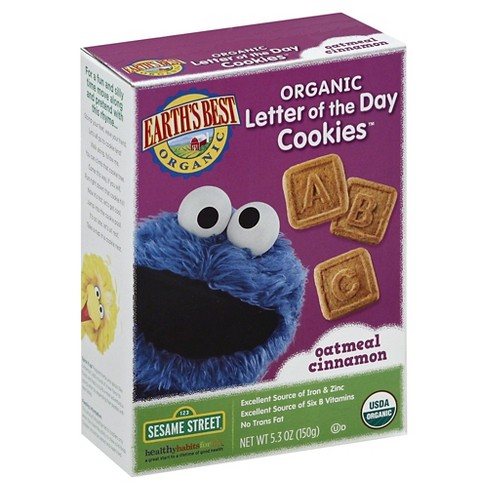 Earth's Best Oatmeal Cinnamon Letter of the Day Cookies - 5.3oz - image 1 of 1