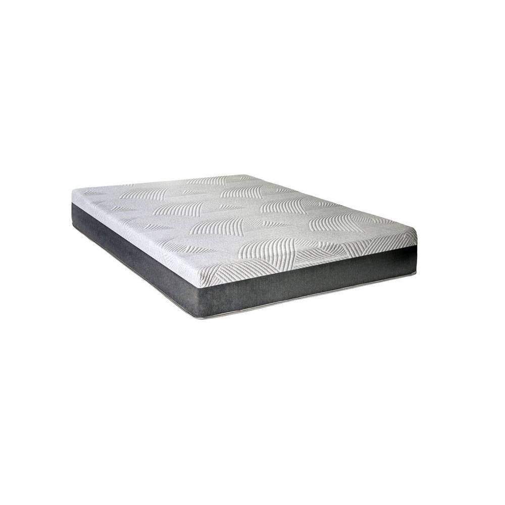 "Image of ""10"""" Irving Memory Foam Queen Mattress White - miBasics"""