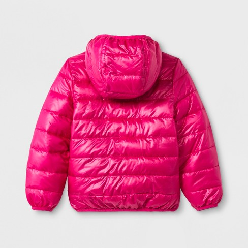 be2f41822 Toddler Girls  PAW Patrol Ultralight Hooded Quilted Jacket - Fuchsia ...