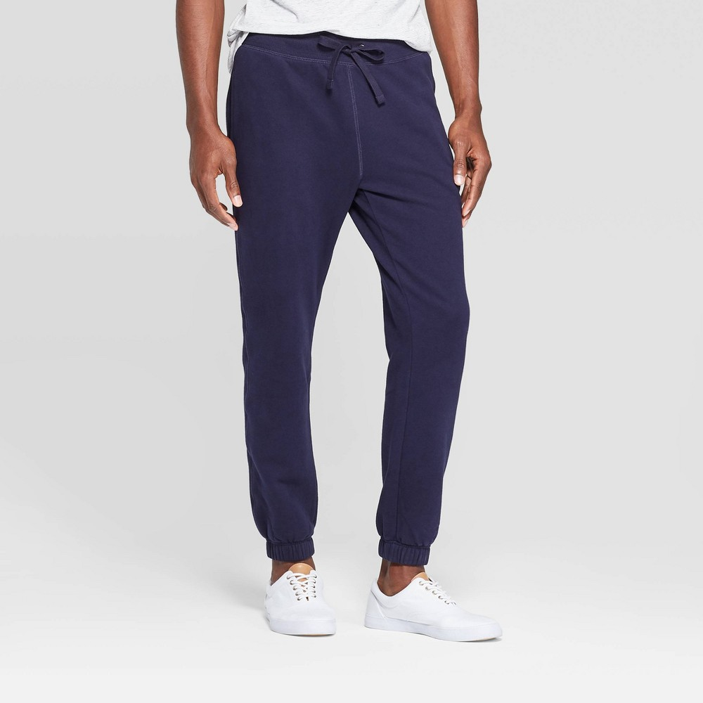 Image of Men's Jogger Sweat Pants - Goodfellow & Co Xavier Navy S, Size: Small, Xavier Blue