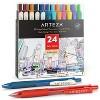 ARTEZA Retractable Gel Ink Pens, Vintage & Bright Colors - Set of 24 - image 3 of 4