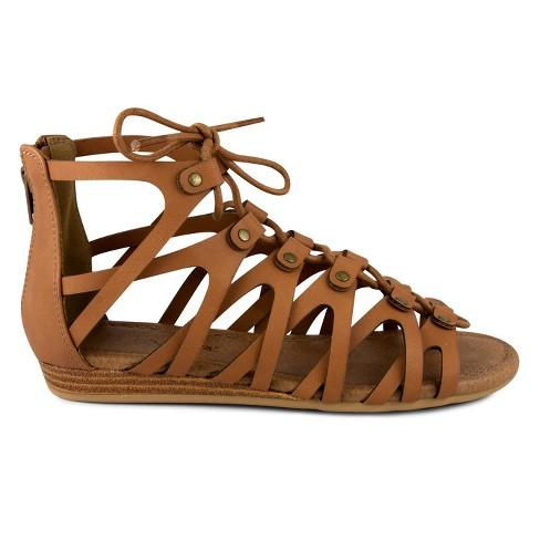 e8e42efe7bc Girls  CoverGirl Lila Gladiator Sandal - Tan   Target