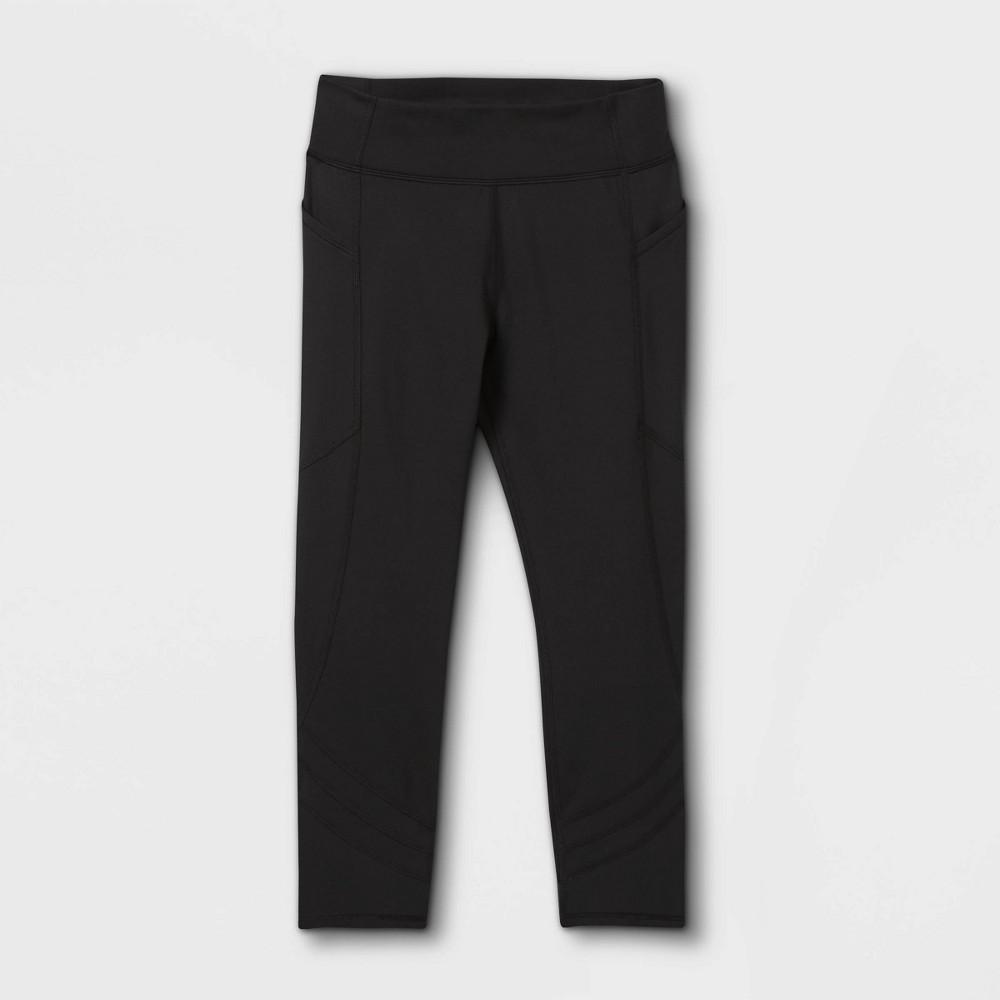 Girls 39 Side Pocket Capri Leggings All In Motion 8482 Black Xl
