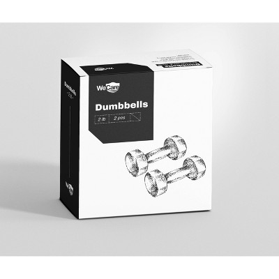 WECARE Neoprene Dumbells 2pc - Black 2lbs