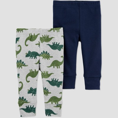 Baby Boys' 2pk Dino Leggings - Just One You® made by carter's 3M Gray