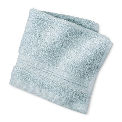 MicroCotton® Spa Solid Washcloth Light Blue - Fieldcrest®