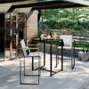 Henning Bar Height Patio Table Black - Project 62™ - image 2 of 3