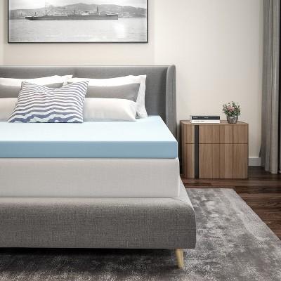 Flash Furniture Capri Comfortable Sleep 3 inch Cool Gel Memory Foam Mattress Topper