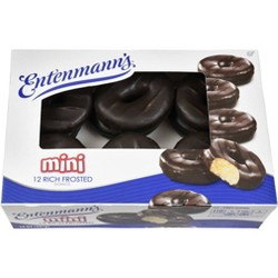 Entenmann's Frosted Mini Chocolate Donuts - 14oz