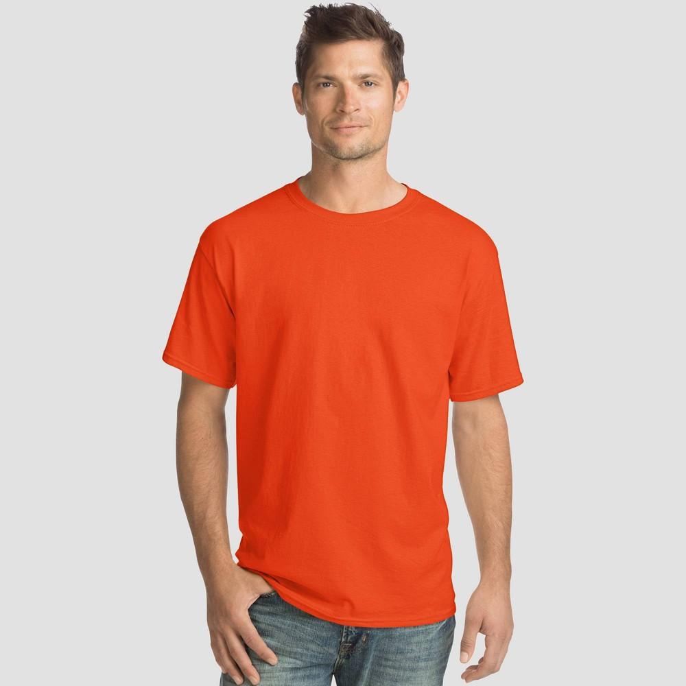 Hanes Men 39 S Comfort Wash Short Sleeve T Shirt 4pk Orange M