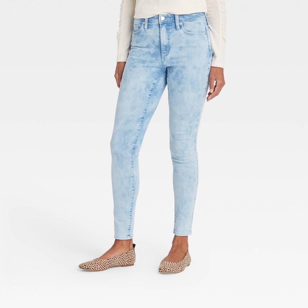Women 39 S High Rise Skinny Jeans Universal Thread 8482 Light Acid Wash 0