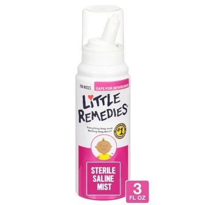 Little Remedies Saline Nasal Mist for Babies Stuffy Noses - 3oz