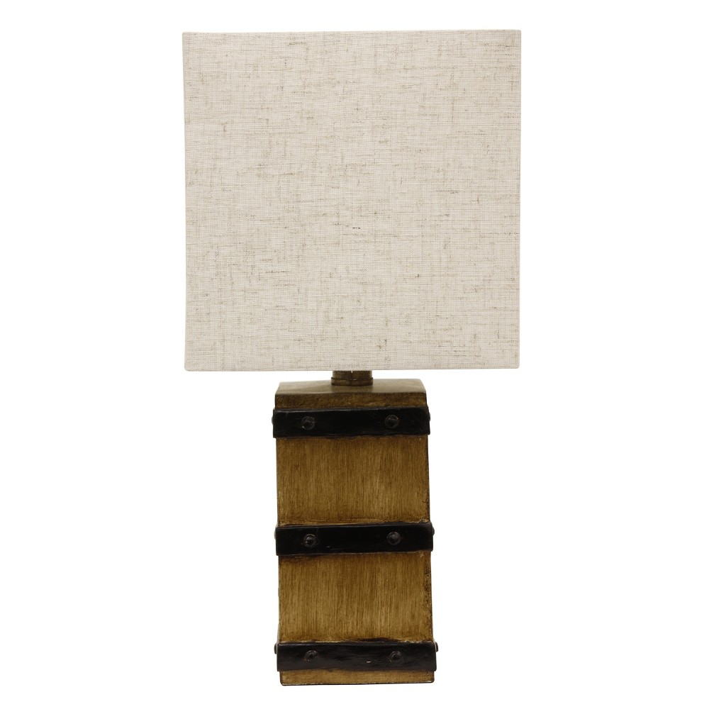 Campbell Square Barrel Accent Table Lamp Brown - Decor Therapy
