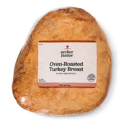Oven Roasted Turkey Breast - Deli Fresh Sliced - price per lb - Archer Farms™