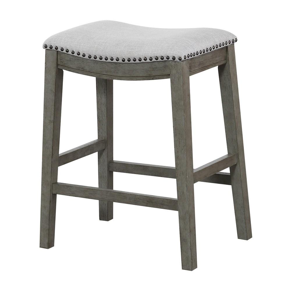 24 Saddle Stool Gray - Osp Home Furnishings