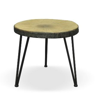 Tyrell Industrial Side Table Oak - Christopher Knight Home