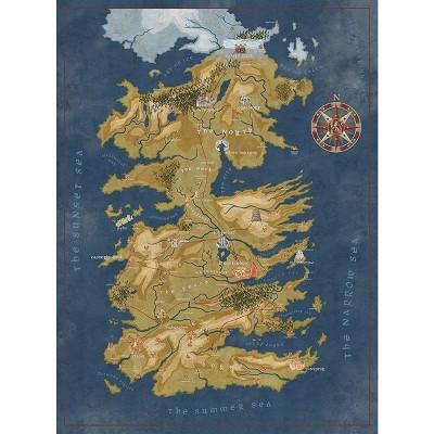 Dark Horse Comics Game of Thrones Map of Westeros 1000-Piece Puzzle