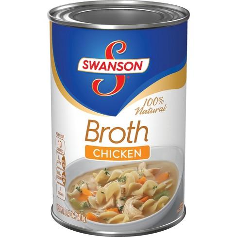 Swanson® 100% Natural Chicken Broth 14.5 Oz : Target