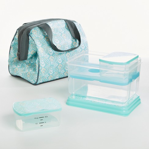 Fit & Fresh Charlotte Lunch Kit - Aqua Stamp Rings - image 1 of 4