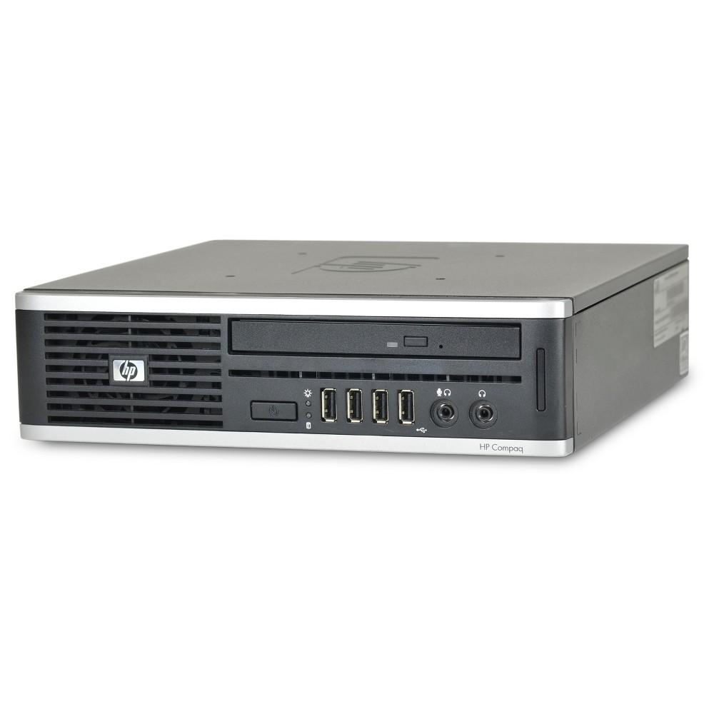 HP 8000-Ultra Small Form Factor Pre-Owned/Certified Core 2 Duo-3.0 4GB Ram 250GB Hdd Dvdrw Windows 10 Pro 64bit - Black (TT2-0009), Almost Black