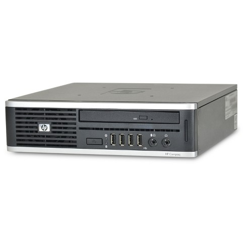 HP 8000-Ultra Small Form Factor Pre-Owned/Certified Core 2 Duo-3.0 4GB Ram 250GB HDD DVDRW Windows 10 Pro 64bit - Black (TT2-0009) - image 1 of 4