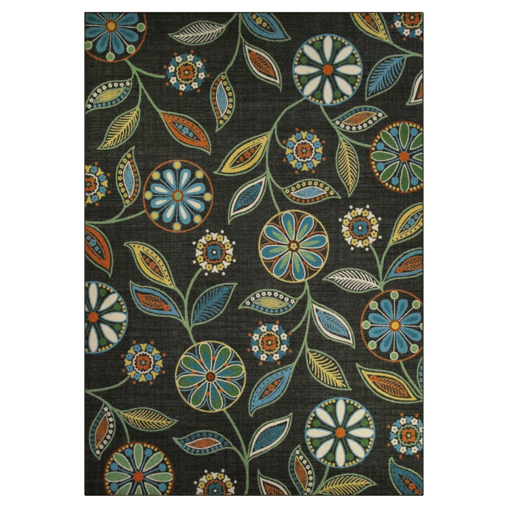 Image of Floral Tufted Area Rug 7'X10' - Maples, Multicolored