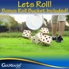 GetMovin Sports Yardzee and Farkle Giant Outdoor Yard Wood Dice Set with Roll Bucket and Scorecards for Kids and Adults - image 3 of 4