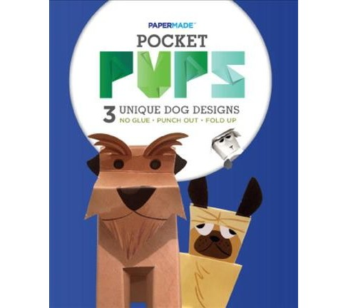 PaperMade Pocket Pups : 3 Unique Dog Designs (Paperback) (Papermade) - image 1 of 1