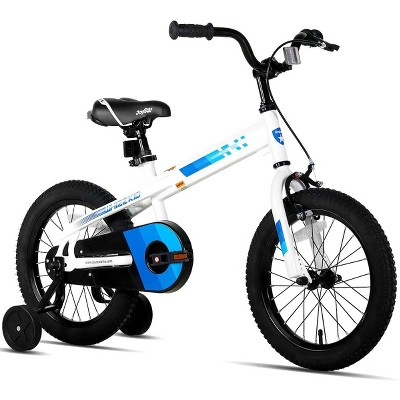 JOYSTAR 039 Whizz Series 16-Inch Ride On Bicycle Kid's Sport BMX Bike with Training Wheels for Children Ages 4 to 7 Years Old, White
