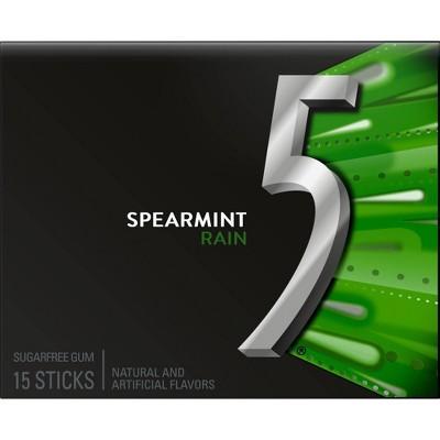 Wrigley's 5 Spearmint Rain Sugarfree Gum - 18ct