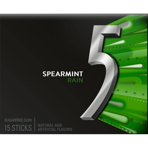 Wrigley's 5 Spearmint Rain Sugarfree Gum - 18ct - image 1 of 4