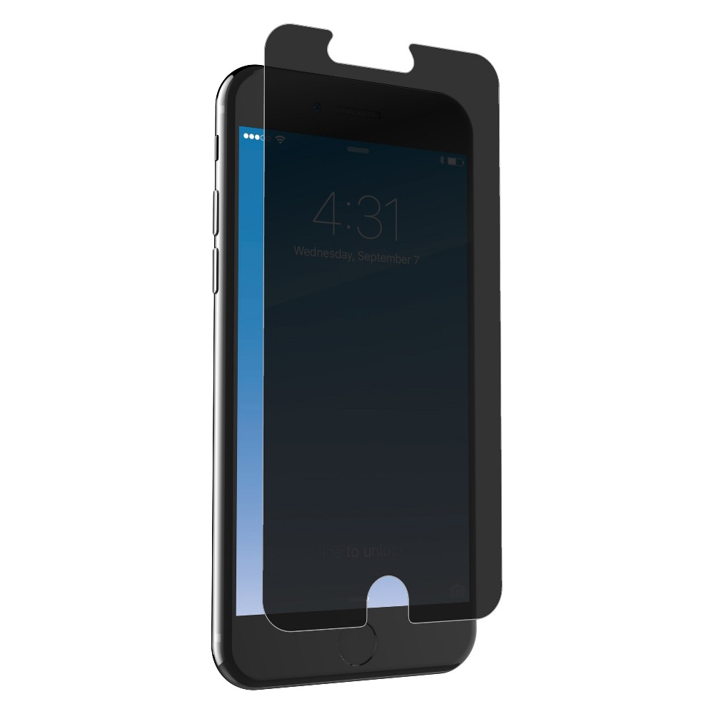 Zagg Apple iPhone 8 Plus/7 Plus/6s Plus/6 Plus InvisibleShield Glass+ Privacy Screen Protector, Clear Protect more than just your screen with Glass+ Privacy. Treated with a two-way, side-view privacy filter, Glass+ Privacy combines full-screen privacy with advanced shatter, impact, and scratch protection that helps preserve every pixel - even from curious eyes. Color: Clear. Pattern: Solid.