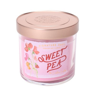 4oz Lidded Glass Jar Candle Sweet Pea - Signature Soy